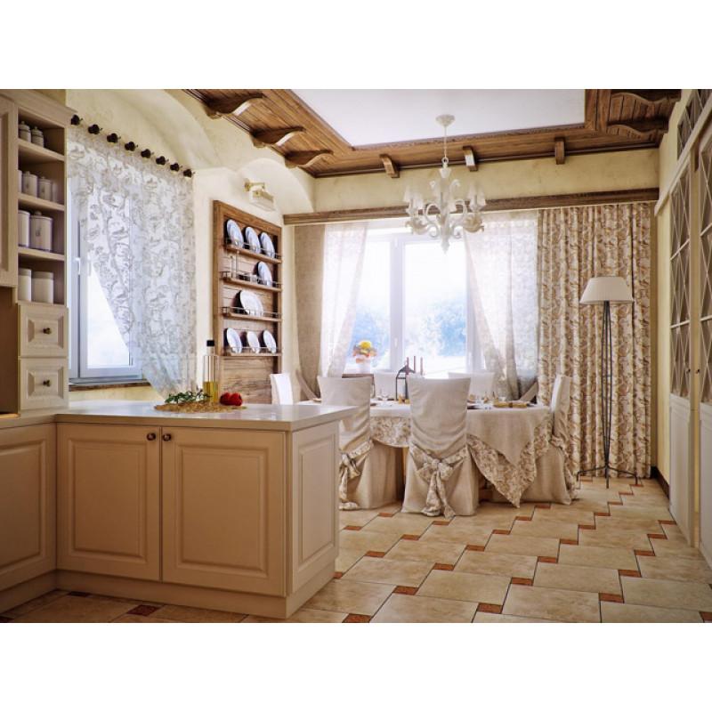 Узорчатые шторы и чехлы на мебель для кухни 3015