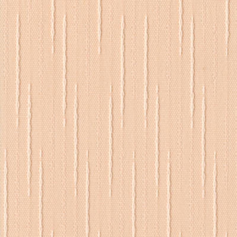 Ткань для вертикальных жалюзи персиковая Рейн 4240