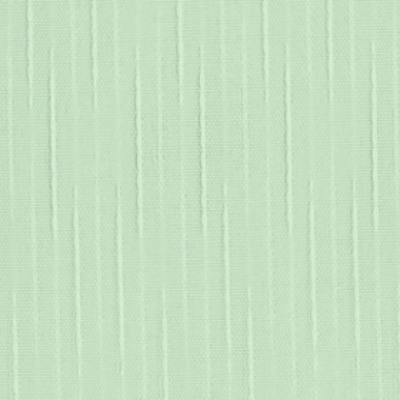 Ткань для вертикальных жалюзи светло-зеленая Рейн 5501